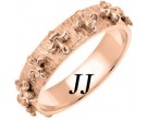 Rose Gold Fleur De Lis Wedding Band 5mm RG-2002