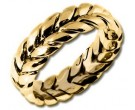 Yellow Gold Hand Braided Wedding Band 7mm YG-200