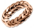 Rose Gold Hand Braided Wedding Band 7mm RG-200