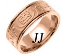 Rose Gold Celtic Design Wedding Band 9mm RG-2022