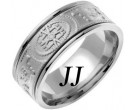 White Gold Celtic Design Wedding Band 9mm WG-2023