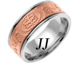 Two Tone Gold Celtic Design Wedding Band 9mm TT-2025