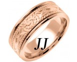 Rose Gold Celtic Design Wedding Band 8mm RG-2032
