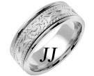 White Gold Celtic Design Wedding Band 8mm WG-2033