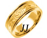 Yellow Gold Celtic Design Wedding Band 8mm YG-2034