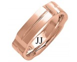 Rose Gold Designer Wedding Band 6mm RG-1482