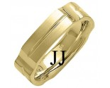 Yellow Gold Designer Wedding Band 6mm YG-1482