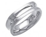 White Gold Designer Wedding Band 7mm WG-1483