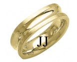 Yellow Gold Designer Wedding Band 7mm YG-1483