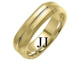 Yellow Gold Designer Wedding Band 6mm YG-1485