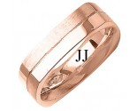 Rose Gold Designer Wedding Band 6mm RG-1486