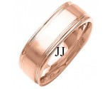 Rose Gold Celtic Knot Wedding Band 8mm RG-2042