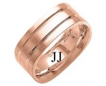 Rose Gold Designer Wedding Band 8mm RG-1490