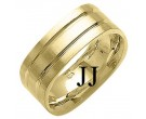Yellow Gold Designer Wedding Band 8mm YG-1490