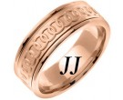 Rose Gold Celtic Rings Wedding Band 8mm RG-2051