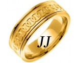Yellow Gold Celtic Rings Wedding Band 8mm YG-2053
