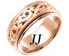Rose Gold Celtic Paisley Wedding Band 9.5mm RG-2061
