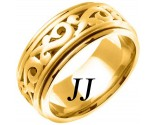 Yellow Gold Celtic Paisley Wedding Band 9.5mm YG-2063