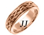 Rose Gold Celtic Braided Wedding Band 6.5mm RG-2082