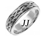 White Gold Celtic Braided Wedding Band 6.5mm WG-2083