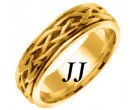 Yellow Gold Celtic Braided Wedding Band 6.5mm YG-2084