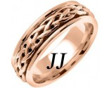 Rose Gold Celtic Braided Wedding Band 6.5mm RG-2091