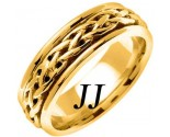 Yellow Gold Celtic Braided Wedding Band 6.5mm YG-2092