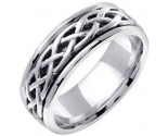 White Gold Celtic Braided Wedding Band 6.5mm WG-2100