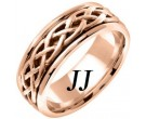 Rose Gold Celtic Braided Wedding Band 6.5mm RG-2101