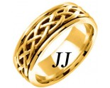 Yellow Gold Celtic Braided Wedding Band 6.5mm YG-2102