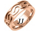Rose Gold Celtic Design Wedding Band 7.5mm RG-2111