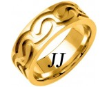 Yellow Gold Celtic Design Wedding Band 7.5mm YG-2112
