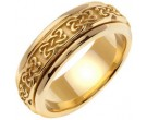 Yellow Gold Celtic Design Wedding Band 7mm YG-2122