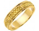 Yellow Gold Celtic Design Wedding Band 6mm YG-2132