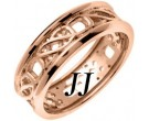 Rose Gold Celtic Design Wedding Band 7mm RG-2162