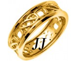 Yellow Gold Celtic Design Wedding Band 7mm YG-2163