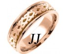 Rose Gold Celtic Design Wedding Band 7mm RG-2171