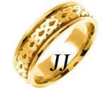 Yellow Gold Celtic Design Wedding Band 7mm YG-2173