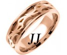 Rose Gold Celtic Design Wedding Band 7mm RG-2181