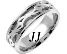 White Gold Celtic Design Wedding Band 7mm WG-2182