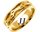 Yellow Gold Celtic Design Wedding Band 7mm YG-2183