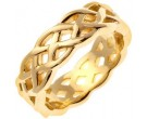 Yellow Gold Celtic Design Wedding Band 7mm YG-2190