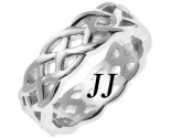 White Gold Celtic Design Wedding Band 7mm WG-2192