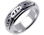 White Gold Celtic Design Wedding Band 7mm WG-2200