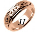 Rose Gold Celtic Design Wedding Band 7mm RG-2201