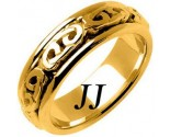 Yellow Gold Celtic Design Wedding Band 7mm YG-2202