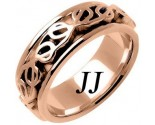 Rose Gold Celtic Design Wedding Band 8mm RG-2211