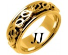 Yellow Gold Celtic Design Wedding Band 8mm YG-2212