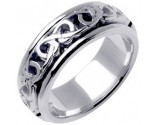 White Gold Celtic Design Wedding Band 8mm WG-2220