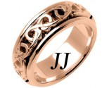 Rose Gold Celtic Design Wedding Band 8mm RG-2221